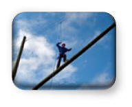 Challenge Course | Curso de Cuerdas | High Ropes Element | Inclined Log